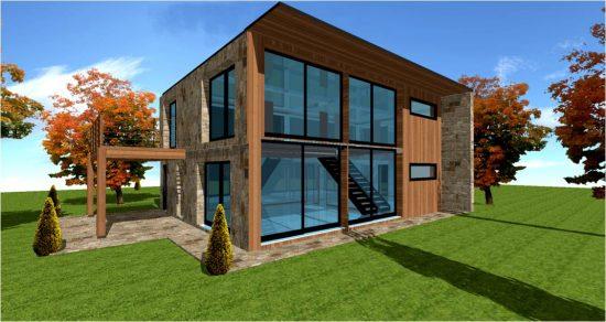Architecte maison bois loft maisons bois france foret architecte constructeur ossature bois for Maison cube en bois