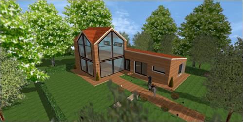 Plan maison bois moderne contemporaine cubique ou design for Modele maison bois contemporaine