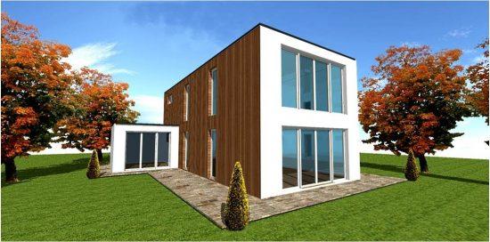 Plan photo maison moderne contemporaine design d'architecte