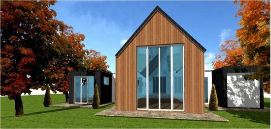 Modele Maison Ossature Bois Moderne Contemporaine Design n°10