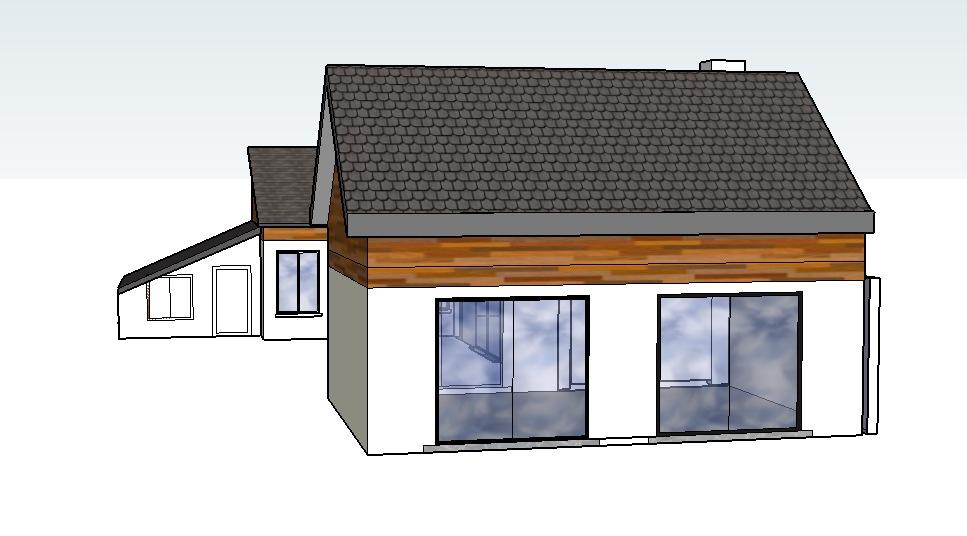 Extension maison bois simple maison bois design extension for Extension maison yonne