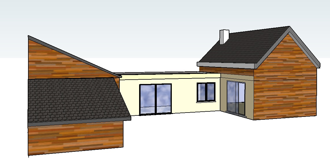 Prix d une extension de maison en bois le but du0027un for Prix d une extension de maison