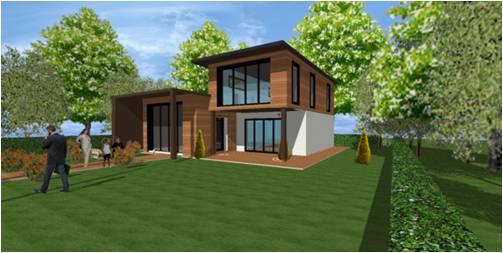 Maison en bois d 39 architecte sur mesure et haut de gamme - Maison ossature bois haut de gamme ...