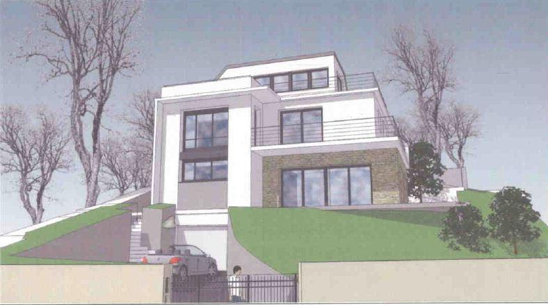 plan maison ossature bois moderne 92 hauts de seine idf plessis robinson maisons bois france. Black Bedroom Furniture Sets. Home Design Ideas