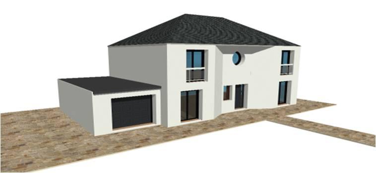 P 19 nouveaux modele rdc r 1 r combles maisons bois for Modele maison moderne a etage