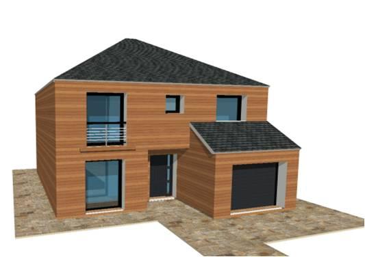P 19 nouveaux modele rdc r 1 r combles maisons bois for Modele maison 2 etage avec garage