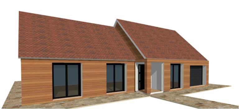 P 19 nouveaux modele rdc r 1 r combles maisons bois for Modele maison en bois plain pied