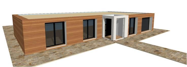 P 20 nouveaux modeles concept et toit terrasse maisons for Maison en bois modele
