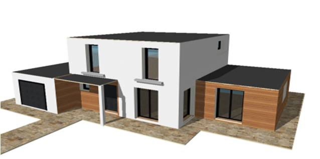 P 19 nouveaux modele rdc r 1 r combles maisons bois for Constructeur maison acier