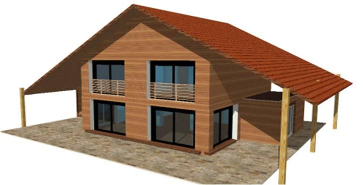 p 20 nouveaux modeles concept et toit terrasse maisons bois france foret architecte. Black Bedroom Furniture Sets. Home Design Ideas