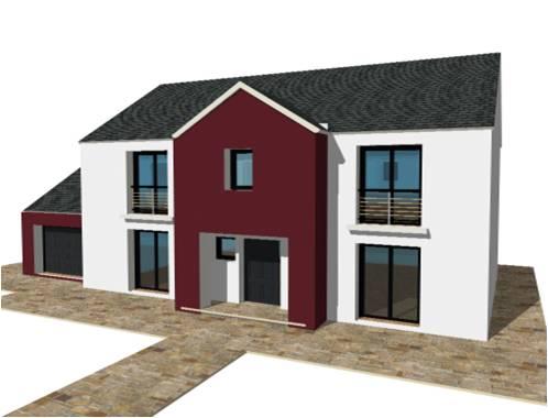 P 19 nouveaux modele rdc r 1 r combles maisons bois france foret architec - Couleur maison moderne ...