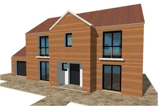 P 19 nouveaux modele rdc r 1 r combles maisons bois france foret architecte constructeur for Architecte constructeur