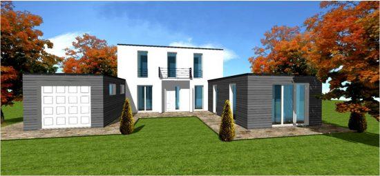 constructeur bois maison toit terrasse vegetalisation