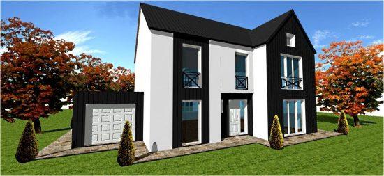 Plan constructeur maison classique ossature bois maisons for Maison bois classique