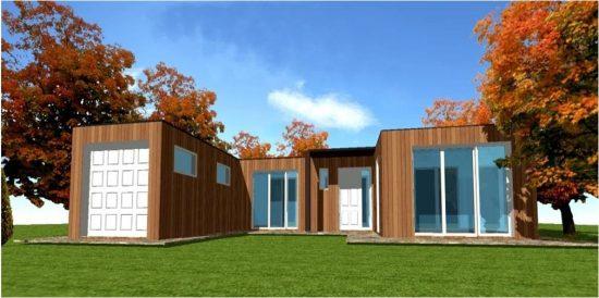 Plan Toit Plat Plain Pied Maison Bois