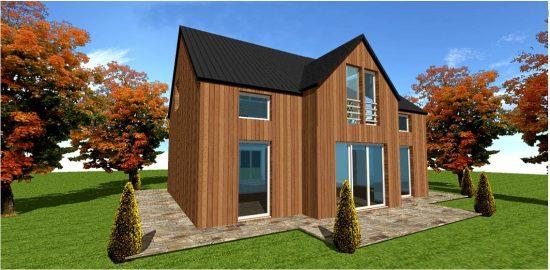 Maison en autoconstruction pour autoconstructeur ossature bois