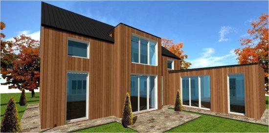 Plan Maison Ossature Bois Modele #7 Wood