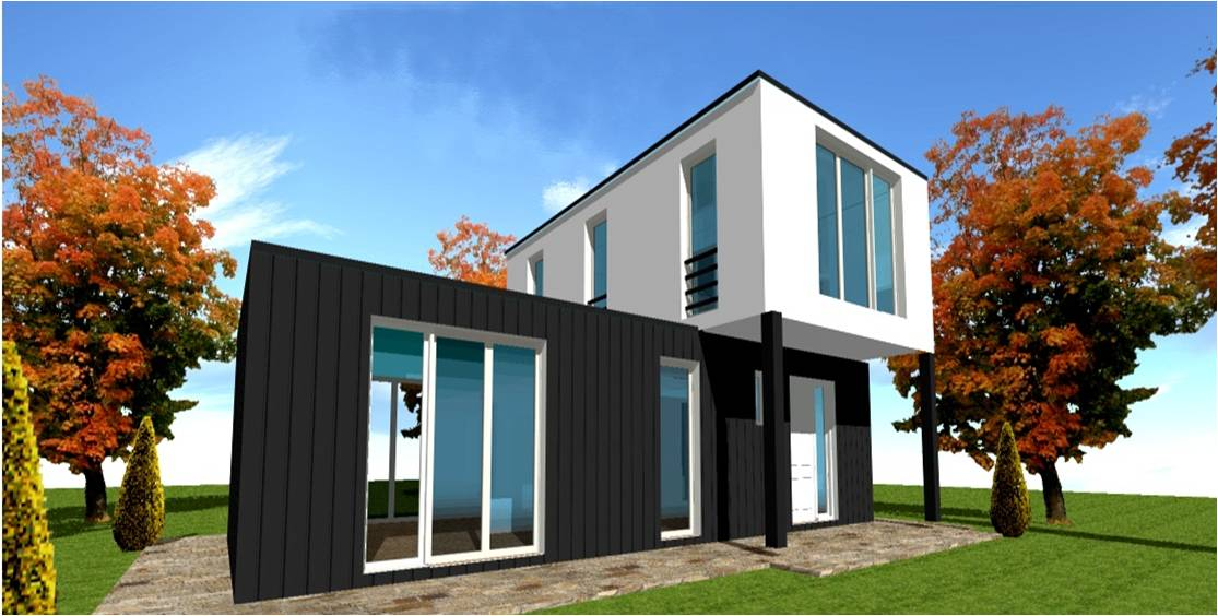 Toit Plat Bac Acier Prix toit une pente ou plat bac acier et bacacier maison ossature bois