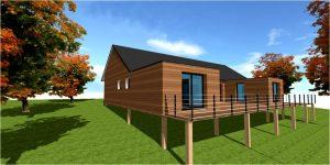 Maison bois sur pilotis architecte constructeur pilotis for Maison 90m2 prix