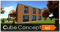 maison cubique cube ossature bois construction