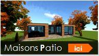 maison patio constructeur ossature bois