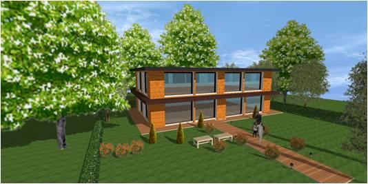 plan constructeur maison bois moderne contemporaine cubique design