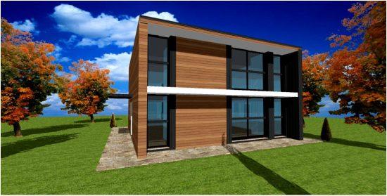 Plan Constructeur Ossature Bois Maison Contemporaine Design