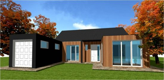 Plan Maison Bois Design n°11