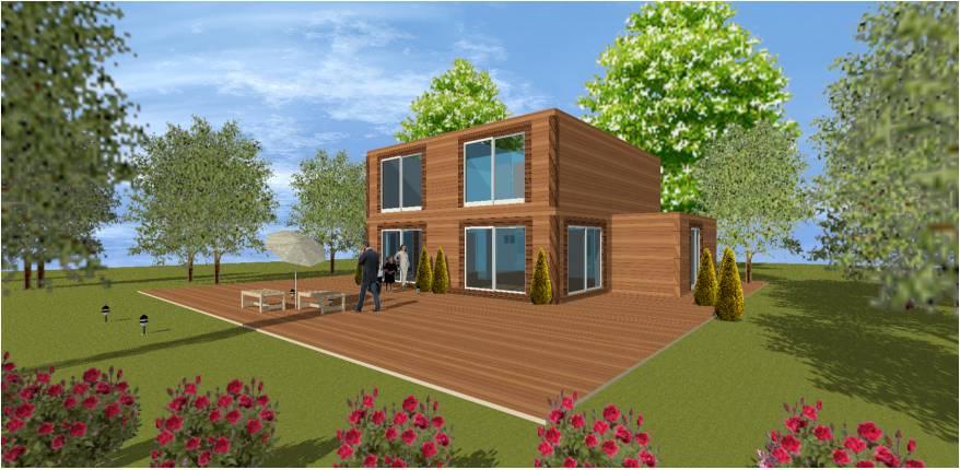maison bois 78 yvelines avant projet