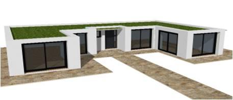 P 19 nouveaux modele rdc r 1 r combles maisons bois france foret architecte constructeur - Plan de maison sans toit ...
