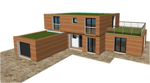 P 20 nouveaux modeles concept et toit terrasse maisons bois france foret architecte - Maison bois moderne toit plat ...