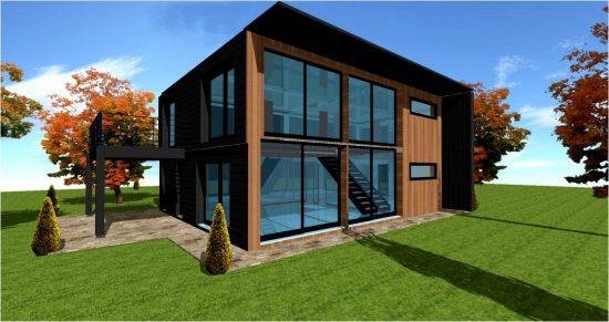 Loft  PLAN MAISON LOFT CONCEPT ARCHITECTE LOFT #1 Zinc Metal et Bois