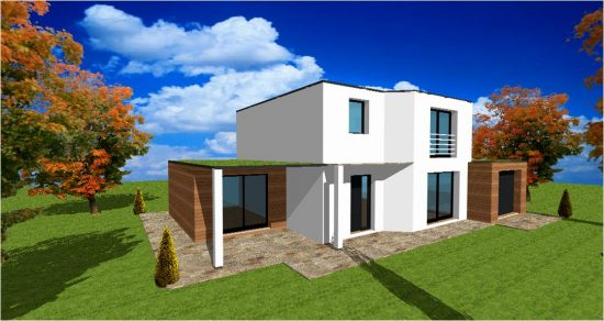 Toit Terrasse Maison Moderne #6