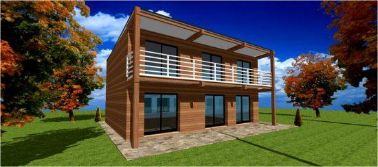 Constructeur de Maisons Toiture terrasse