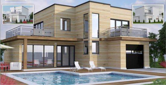 Toit Terrasse Maison Concept Plan Modele Etage 12