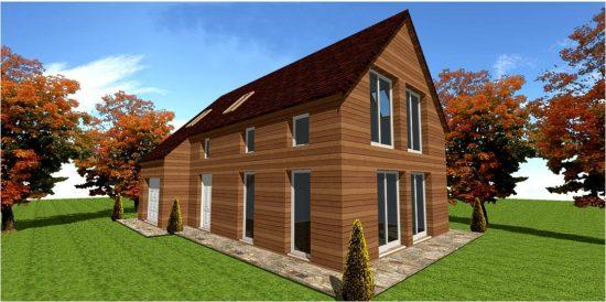 Maison Ossature Bois Concept Modele #4