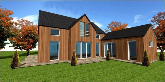 Maison Bois Permis Construire Plan Modele #6 Vue 3