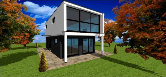 Architecte Maison Cube Concept n°2 White
