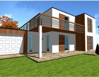 Plan Constructeur Maison Toit Terrasse toiture Plate Ossature bois