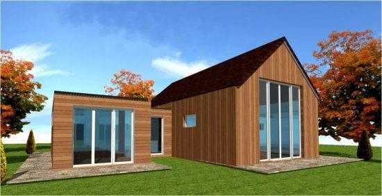 Prix de construction d une maison ossature bois dès 1200 euros/m²