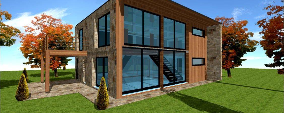 Plan constructeur maison contemporaine moderne design