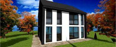 Plan Maison toiture Zinc Bardage Zinc #3