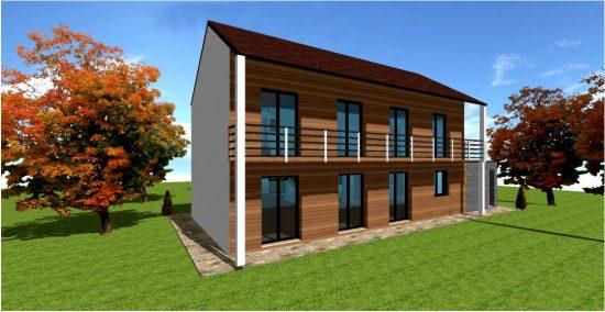 Maison passive rt 2020 constructeur ossature bois maisons bois france foret architecte - Maison passive design ...