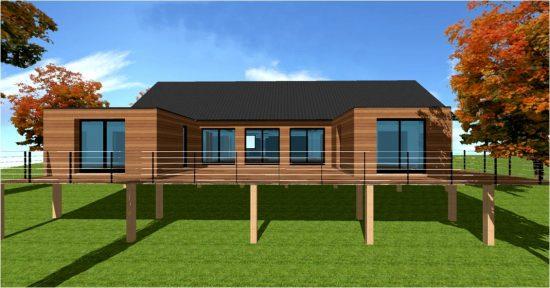 Maison bois sur pilotis architecte constructeur pilotis maisons bois france foret architecte - Maison bois pilotis ...