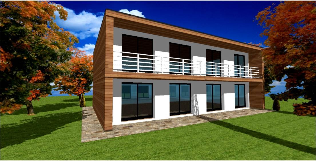 Toiture terrasse pour toit plat maison ossature bois | Maisons Bois France Foret Architecte ...