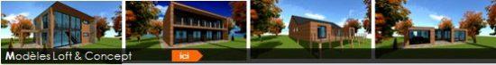 constructeur maison ossature bois plan architecte loft piloti patio